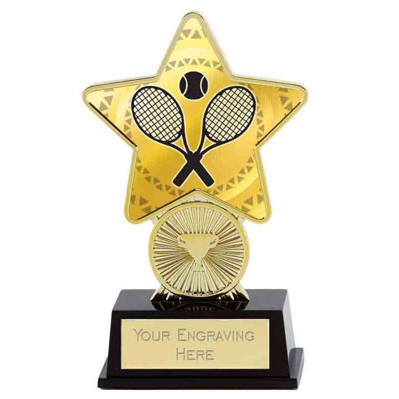 Gold Tennis Superstar Mini Trophy - PK287T