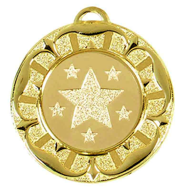 Target Tudor Rose Medal (size: 40mm) - AM944G Gold