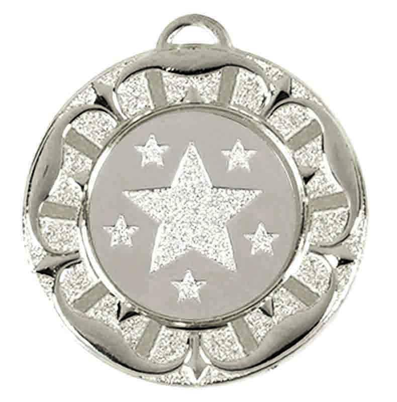 Target Tudor Rose Medal (size: 40mm) - AM944S Silver