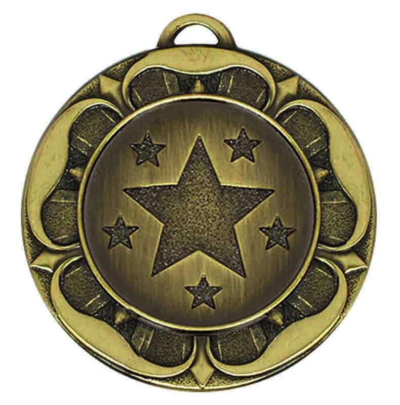 Target Tudor Rose Medal (size: 40mm) - AM944B Bronze