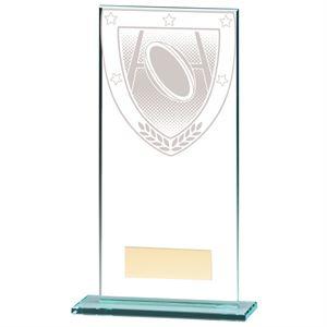 Millennium Rugby Jade Glass Award - CR20389E