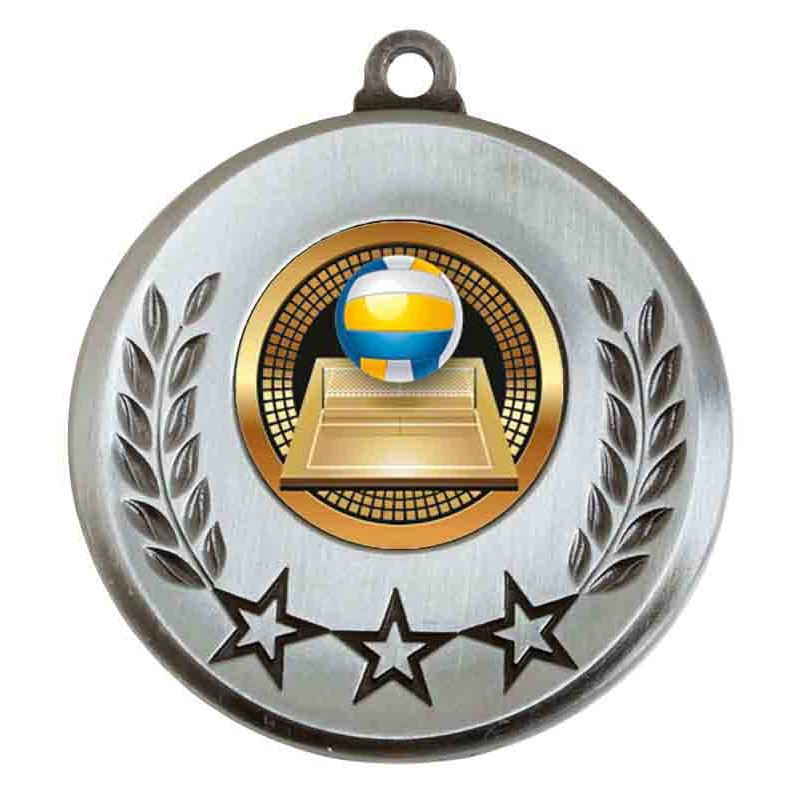 Spectrum Volleyball Medal - AM6031.67-017 Silver
