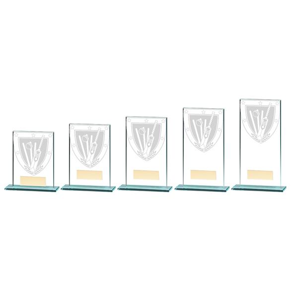 Millennium Cricket Jade Glass Award - CR20372 5 Sizes