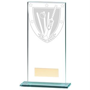 Millennium Cricket Jade Glass Award - CR20372E