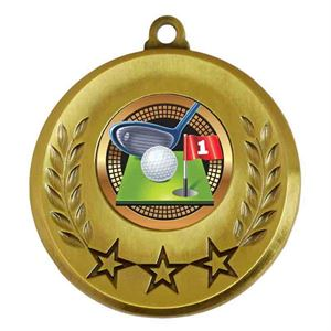 Spectrum Golf Medal - AM6031.12-038 Gold