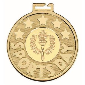 Aura Sports Day Torch Medal - AM1178.01 Gold