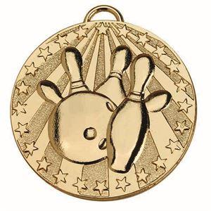 Target Ten Pin Bowling Medal - AM1140.01 Gold