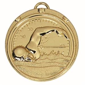 Target Swimmer Medal - AM992G Gold