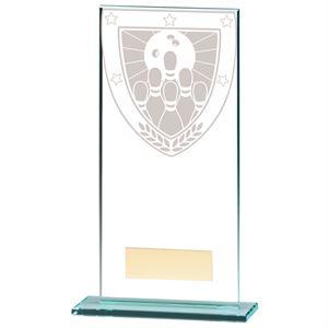 Millennium Ten Pin Bowling Jade Glass Award - CR20393E
