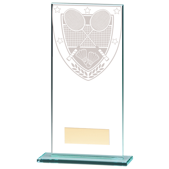 Millennium Badminton Jade Glass Award - CR20369