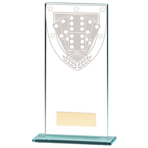 Millennium Dominoes Jade Glass Award - CR20374
