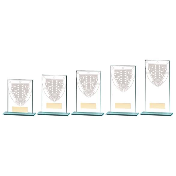 Millennium Dominoes Jade Glass Award - CR20374 5 sizes