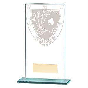 Millennium Poker Jade Glass Award - CR20387