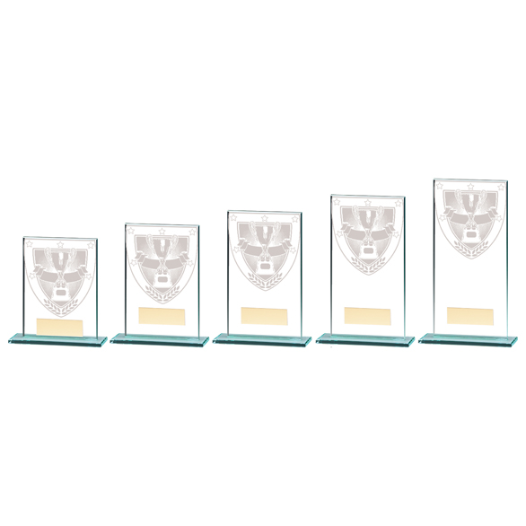 Millennium Achievement Jade Glass Award - CR20368 5 sizes