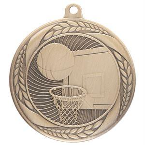Gold Typhoon Basketball Medal (55mm) - MM20440G