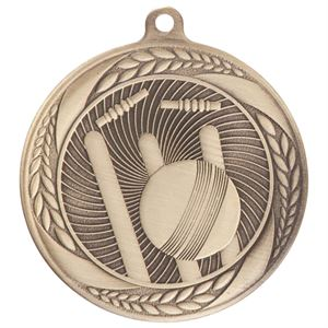 Gold Typhoon Cricket Medal (55mm) - MM20450G