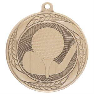 Gold Typhoon Golf Medal (55mm) - MM20451G