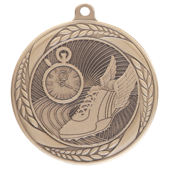 Gold Typhoon Running Athletics Medal (55mm) - MM20444G
