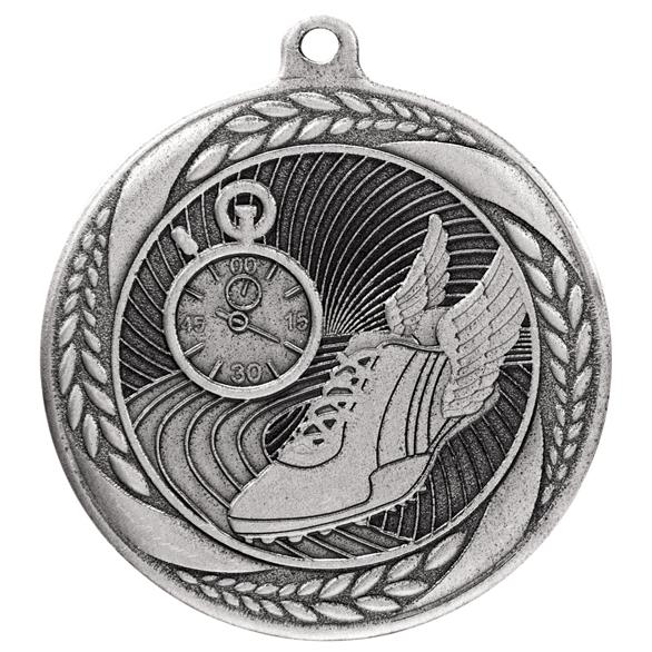 Silver Typhoon Running Athletics Medal (55mm) - MM20444S