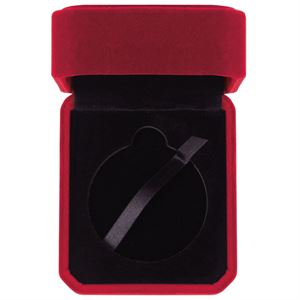 Aspire Burgundy Velour Medal Box - MB20306