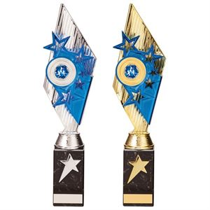 Pizzazz Blue Trophy - Silver or Gold - TR20521/TR20529