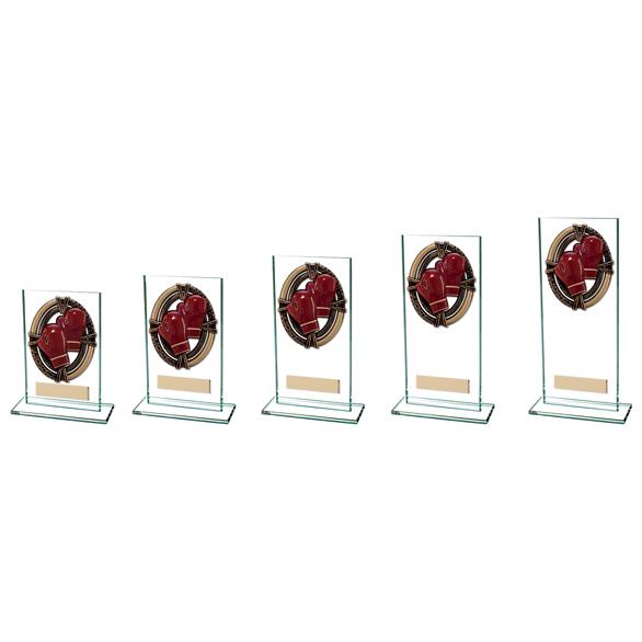 Maverick Legacy Glass Boxing Trophy Bronze CR16003 5 sizes