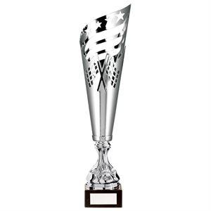Monza Laser Cut Silver Metal Cup - TR20547