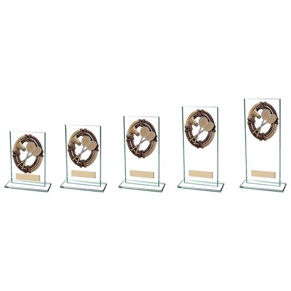 Maverick Legacy Glass Field Hockey Trophy Bronze - CR16012 - 5 Sizes