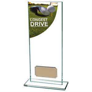 Colour Curve Longest Drive Golf Glass Trophy - CR4687