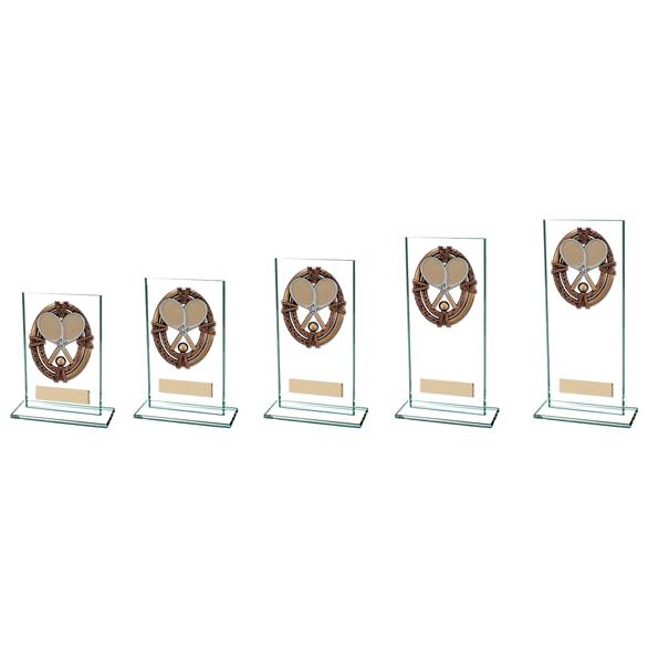 Maverick Legacy Glass Tennis Trophy Bronze 5 sizes - CR16021