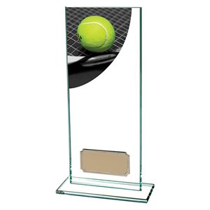 Colour Curve Tennis Glass Trophy - CR4843