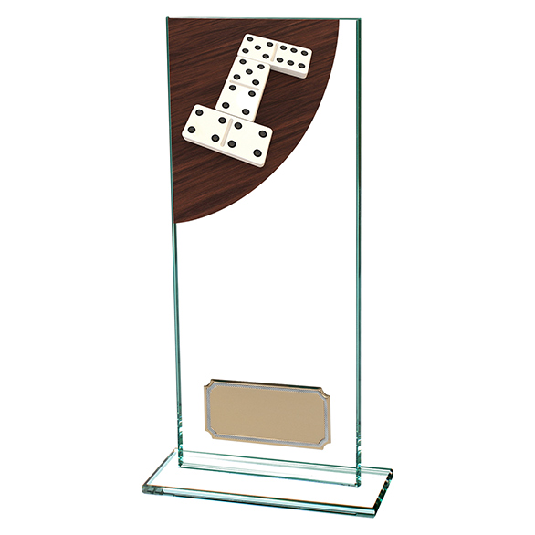 Colour Curve Dominoes Glass Trophy - CR4623