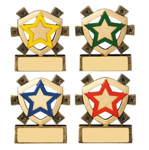 House Star Mini Shield - Yellow, Green, Red or Blue