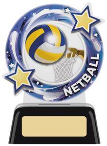 Orbit Acrylic Netball Mini Trophy - PK203