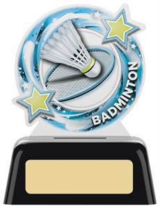 Orbit Acrylic Badminton Mini Trophy - PK131