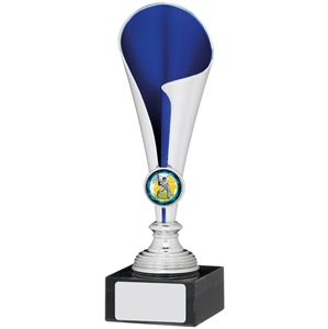 Silver & Blue Cone Cup Trophy - A0183
