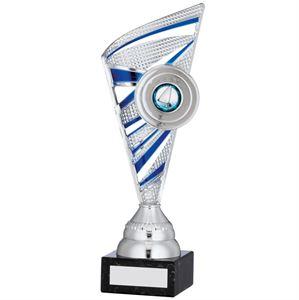 Ribbon Trophy Silver & Blue - A0100