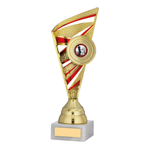 Ribbon Trophy Gold & Red - A0103