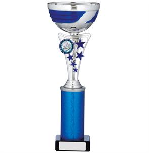 Vulcan Star Column Cup Silver & Blue - A0109