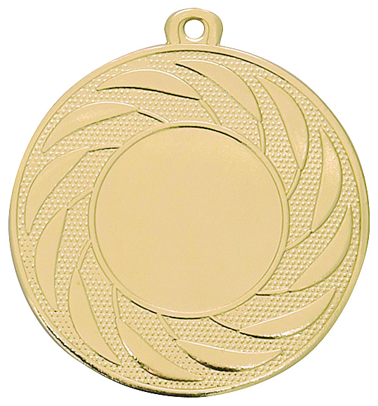 Pack of 100 Radial Medals with Ribbons & Free Logo Inserts (50mm) - M9312.01/SET100 Gold