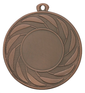 Pack of 100 Radial Medals with Ribbons & Free Logo Inserts (50mm) - M9312.26/SET100 Bronze