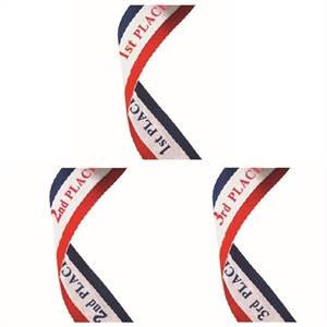 Red White & Blue Place Medal Ribbons - MR